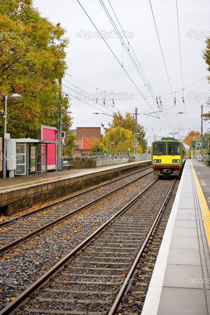 Small commuter station at Dublin, Ireland — Stock Photo #10031297