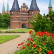 Holstentor. Lubeck, Germany — Foto de Stock