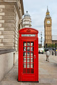 Red phone booth. London, England — Foto de Stock