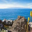 vista de la gomera desde tenerife. Islas Canarias, España — Foto de Stock
