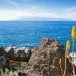 View of La Gomera from Tenerife. Canary Islands, Spain — Stock Photo