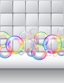 Bubbles background — Stock Vector