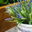 Basket of lavender — Foto de Stock