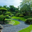 Japanese garden topiary - Stock Photo