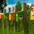 Colorful birdhouses — Foto Stock