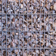 Gabion from the rubble - Stock Photo