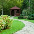 Gazebo in the woods — Stock Photo