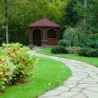 Gazebo in woods — Foto de stock #8407457