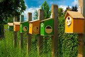 Colorful birdhouses — Stock Photo