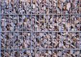 Gabion from the rubble — Stock Photo