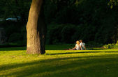 Lovers in the Park — Stock Photo
