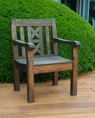 Chair on the deck — Stock Photo
