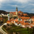 Spring view of Cesky Krumlov. Czech republic — Stock Photo