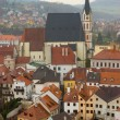 Spring view of Cesky Krumlov. Czech republic - Stock Photo