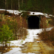 Tunnel. Abandoned military base — Stock Photo