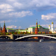 View of Moscow river and Kremlin embankment — Stock Photo