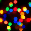 Color lights blur background — Stock Photo