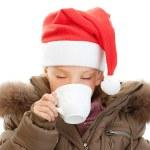 Little girl closeup in warm winter jacket — Stock Photo #10023250