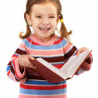 Little girl in striped sweater — Stock Photo #10272853
