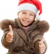 Stock Photo: Little girl closeup in warm winter jacket