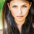 Close up of young beautiful woman - Stock Photo
