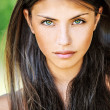 Close up of young beautiful woman - Stockfoto