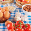 Stock Photo: Ingredients for breakfast