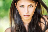 Close up of young beautiful woman — Stok fotoğraf