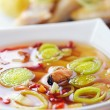 Thai Tom Yum soup with seafood — Stock Photo #10561168