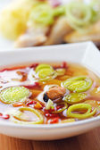 Thai Tom Yum soup with seafood — Stock Photo