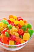 Colorful candy (candied fruit, jellies, candies) — Stock Photo