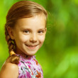 Portrait of beautiful smiling girl — Stock Photo