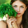 Girl with dill — Stock Photo #8168555
