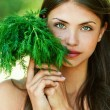 Girl with dill - Stock Photo