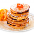 Stack of sweet bread and honey - Foto de Stock