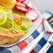 Fish in batter — Stockfoto