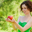 Young woman with apple — Stock Photo #8581755