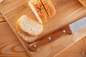 Sliced ​​loaf (long loaf) — Stock Photo