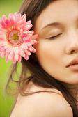 Closeup portrait of asian young woman — Stock Photo