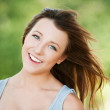 Portrait of young smiling woman — Stock Photo