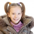 Stock Photo: Little girl in brown jacket