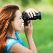 Young smiling woman with — Stock Photo