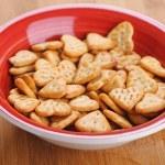 Many heart shape cookies — Stock Photo #9794051