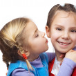 Little girl hugged her sister — Stock Photo