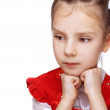 Little girl thought - Stock Photo