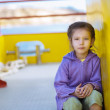 Little girl sitting — Stock Photo #9795364