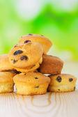 Cupcake with raisins — Stock Photo