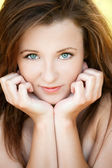 Portrait of beautiful young woman — Stock Photo