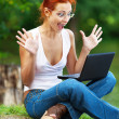 Beautiful woman with laptop — Stock Photo #9894629