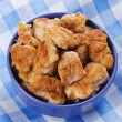 Fried chicken pieces - Stock Photo